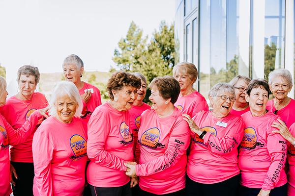 Spanish Cove rowing team women